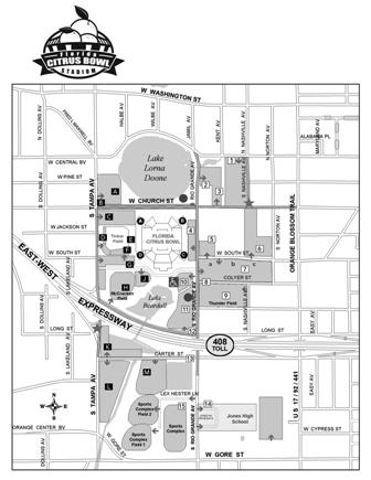 Citrus Bowl Map - BW